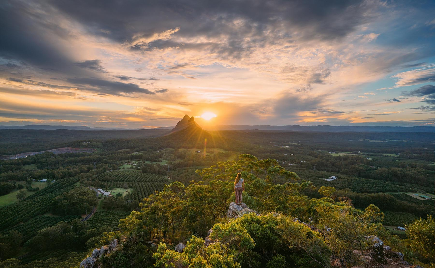 Glass House Mountains, Mary Cairncross Lookout, QLD  (Photo credit: Tourism and Events QLD/Jason Charles Hill Photography