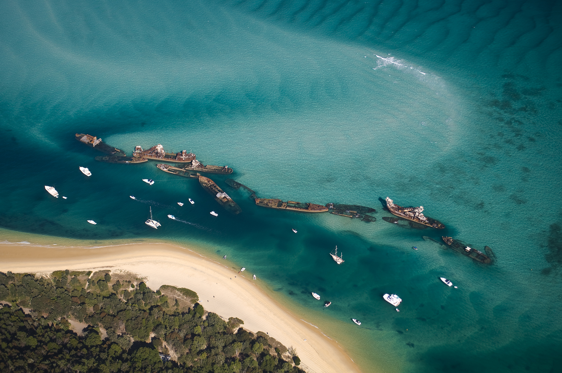 Tangalooma Wrecks on Moreton Island (Photo istock)